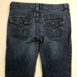 Calvin Klein Jeans Sz14 Boot Cut Blue Denim Mid